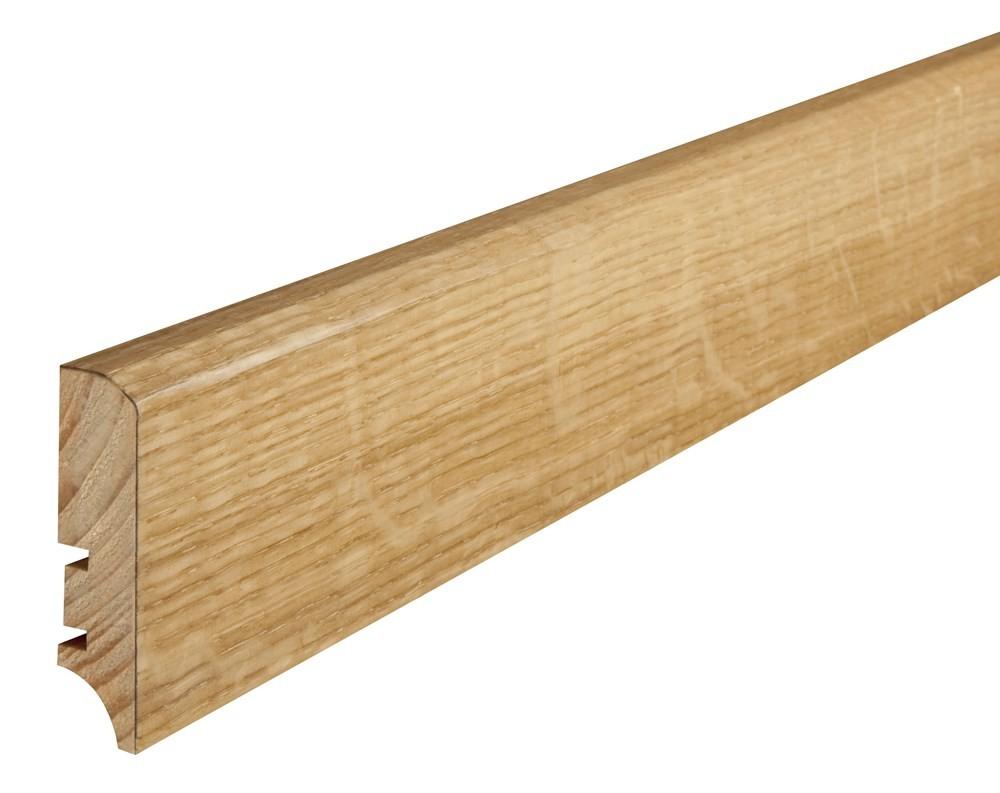 Плинтус напольный Дуб, лак, 60х16х2200 мм