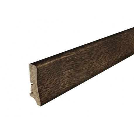 Плинтус напольный Дуб еспресо,лак, 58х20х2200 мм
