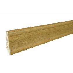 Плинтус напольный Дуб темный, лак, 58х20х2200 мм