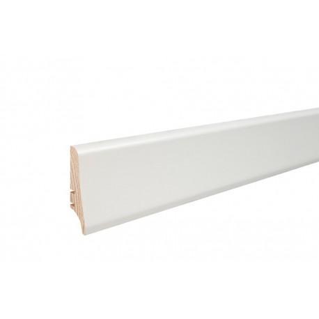 Плинтус напольный окрашенный белый, 58х20х2200 мм