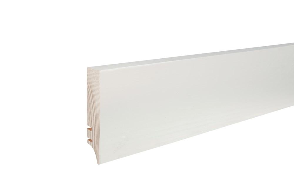 Плинтус белый лак, 70х16х2200 мм