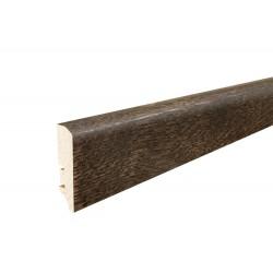 Плінтус напольний  Дуб эспресо, лак,  60х16х2200 мм