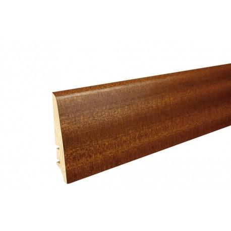 Плинтус напольный Сапелла, лак, 78х18х2200 мм