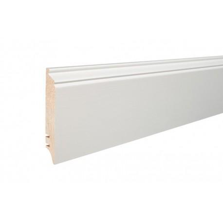 Плинтус напольный белый крашенный, 90х16х2200 мм