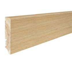 Плінтус підлоговий Дуб, лак, 78х17х2200 мм