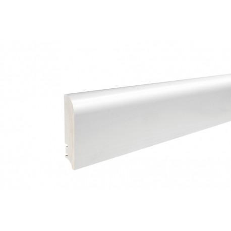 Плинтус напольный белый лак, 95х19х2200 мм