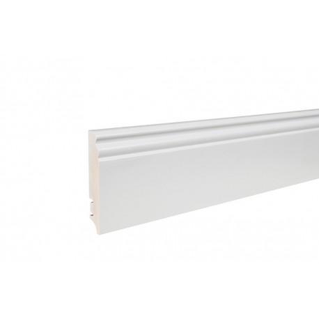 Плінтус напольний фігурний, білий лак 95х16х2200 мм